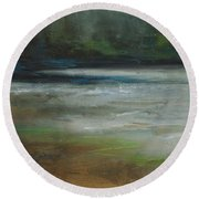 Moonlit Inlet 2 Round Beach Towel