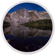 Moonlit Reflections  Round Beach Towel