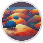 Moonlit Rollers Round Beach Towel by Gary Coleman