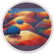Moonlit Rollers Round Beach Towel