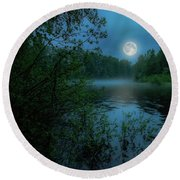 Round Beach Towel featuring the photograph Moonlit by Rose-Marie Karlsen