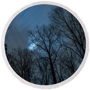Moonlit Sky Round Beach Towel