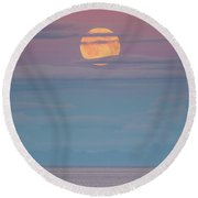 Moonrise Round Beach Towel