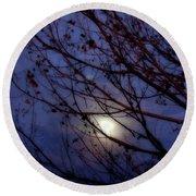 Round Beach Towel featuring the photograph Moonrise by Ellen Heaverlo