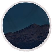 Moonrise Mount Adams Round Beach Towel