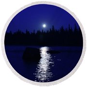 Moonrise On A Midsummer's Night Round Beach Towel