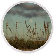 Moonrise St. Pete Beach Round Beach Towel