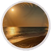 Moonscape 3 Round Beach Towel
