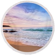 Round Beach Towel featuring the photograph Bunker Bay Sunset, Margaret River by Dave Catley