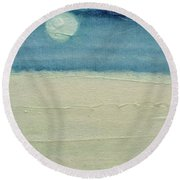 Moonshadow Round Beach Towel