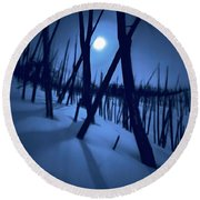 Moonshadows Round Beach Towel