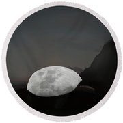 Moontoise Round Beach Towel