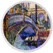 Moorish Bridge Round Beach Towel