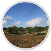 Moorland In The Noordhollandse Duinreservaat Round Beach Towel