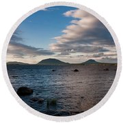 Moosehead Lake Spencer Bay Round Beach Towel