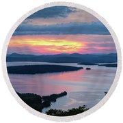 Mooselookmeguntic Lake In The Last Light Of Day - Rangeley Me  -63430 Round Beach Towel