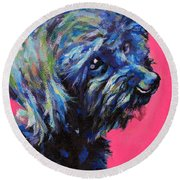Moppet Round Beach Towel