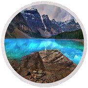 Moraine Lake Round Beach Towel