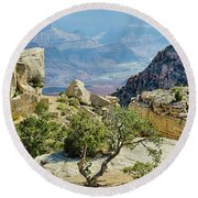 Moran Point View Round Beach Towel