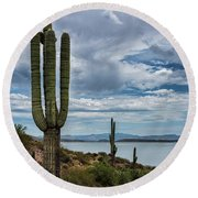 Round Beach Towel featuring the photograph More Beauty Of The Southwest  by Saija Lehtonen