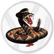 More Dangerous Than A Rattlesnake - Ww2 Round Beach Towel