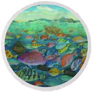 More Fish Round Beach Towel