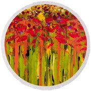 More Flowers In The Field Round Beach Towel