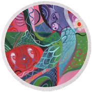 More Love Round Beach Towel by Helena Tiainen