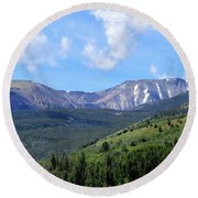 More Montana Mountains Round Beach Towel