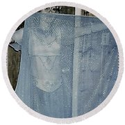 Round Beach Towel featuring the photograph More Peek-a-boo by Denise Fulmer