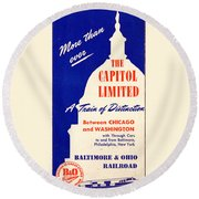 More Than Ever, The Capitol Limited Round Beach Towel
