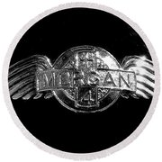 Morgan Nameplate Round Beach Towel