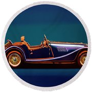 Morgan Roadster 2004 Painting Round Beach Towel