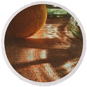 Morning Detail Round Beach Towel