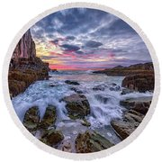 Morning At Bald Head Cliff Round Beach Towel by Rick Berk