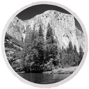 Round Beach Towel featuring the photograph Morning At El Capitan by Sandra Bronstein