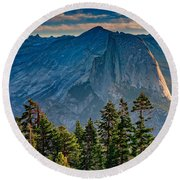 Morning At Half Dome Round Beach Towel