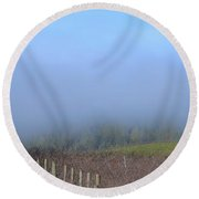 Morning At The Vinyard Round Beach Towel