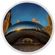 Morning Bean Round Beach Towel by Sebastian Musial