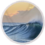 Morning Breaks Round Beach Towel by Az Jackson
