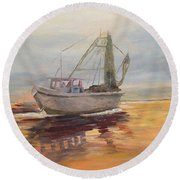 Morning Catch Round Beach Towel
