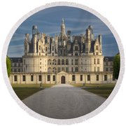 Morning Chateau Round Beach Towel