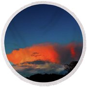 Morning Clouds Round Beach Towel by Mark Blauhoefer