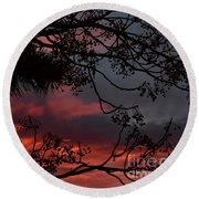 Morning Cold II Round Beach Towel by Angela J Wright