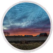 Morning Color Round Beach Towel