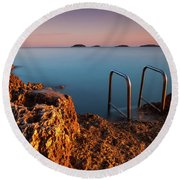 Round Beach Towel featuring the photograph Morning Colors by Davor Zerjav