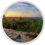 Morning Colors Round Beach Towel