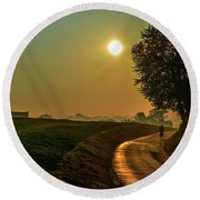 Morning Dew In Color Round Beach Towel