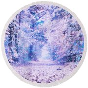 Morning Fantasy Forest Impressions Round Beach Towel