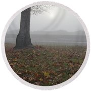 Morning Fog Round Beach Towel by Jim And Emily Bush